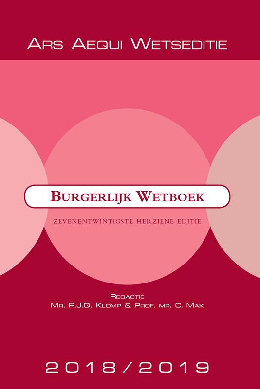 Cover Burgerlijk Wetboek 2018/2019