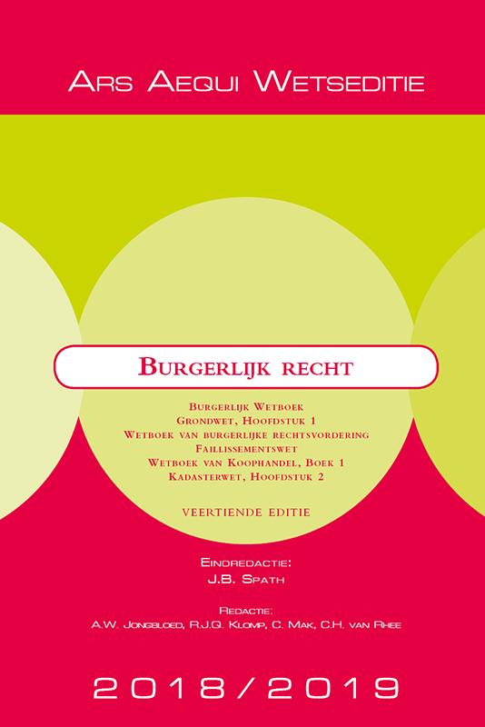 Cover Burgerlijk recht 2018/2019