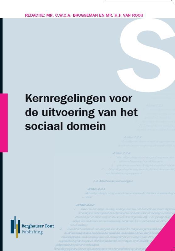 Cover Kernregelingen voor de uitvoering van het sociaal domein 2019