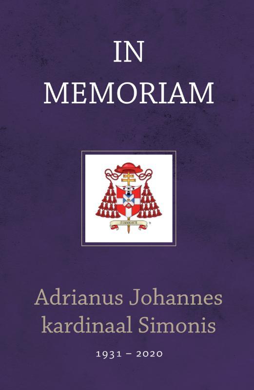 Cover In memoriam kardinaal Adrianus Johannes Simonis