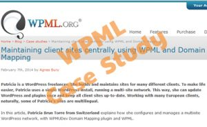 Featured on WPML for Domain Mapping