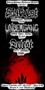 CONVULSE- UNDERGANG – DETEST, Stengade, 12-11-2014