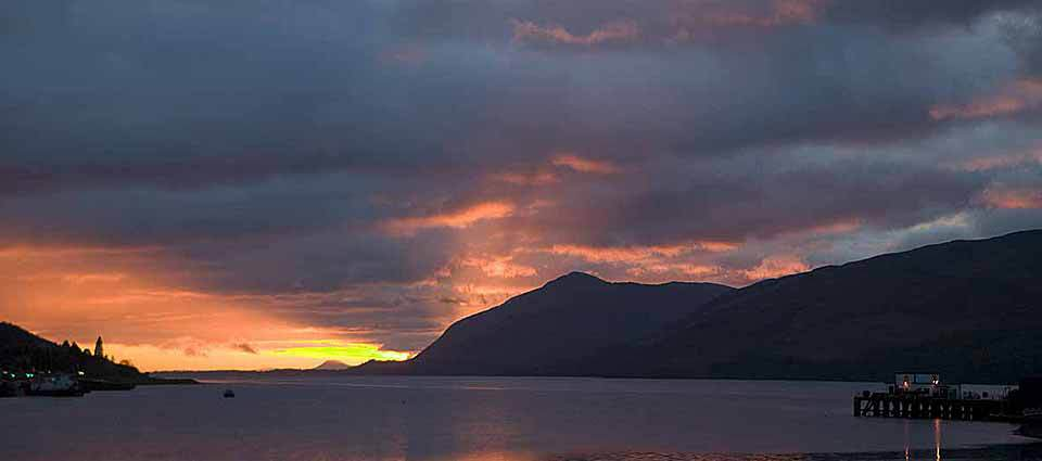 Winter sunset of Loch Linnhe