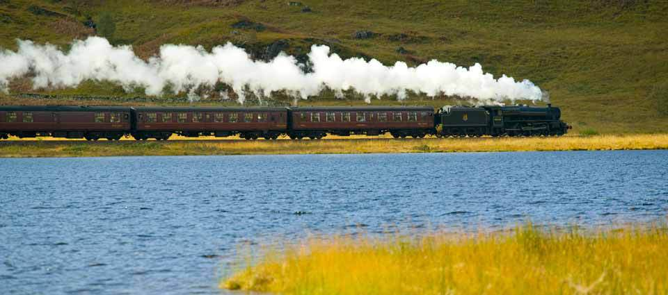 Steam locomotive on its way to the west coast