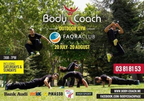 Sports Teams & Partners in Mount Lebanon - Body Coach: Outdoor Gym at Faqra Club