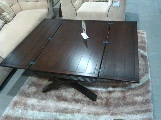 Massif Wood Salon Table With Foldable Both Sides Vivadoo
