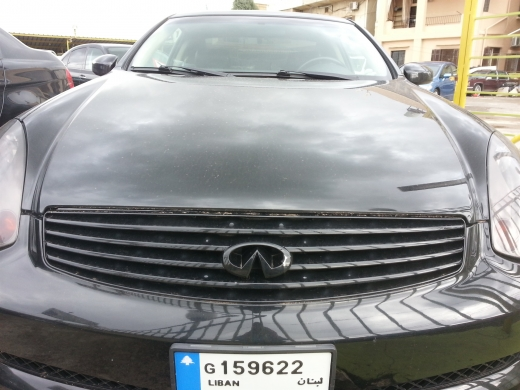 Cars in Dahr el-Ain - infinity g 35 mod 2004