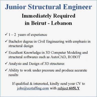 Junior Structural Engineer - Vivadoo