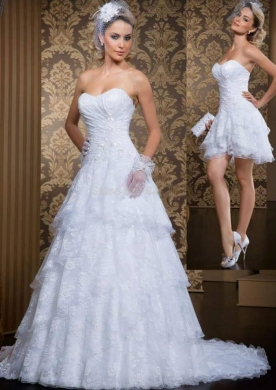 Clothes, Footwear & Accessories in Ain el-Remmaneh - BD 15008 Double wedding dress, princess cut.