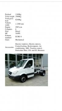 Vans, Trucks & Plant in Mount Lebanon - Mercedes Benz Sprinter 518 Cdi