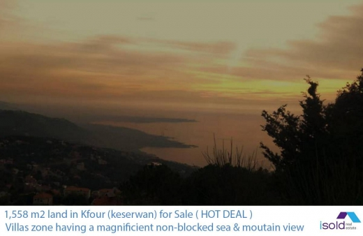Land, Farms & Estates in Kfour - Ref (PE1.L.286), 1,558 m2 land for sale in kfour (Keserwan)