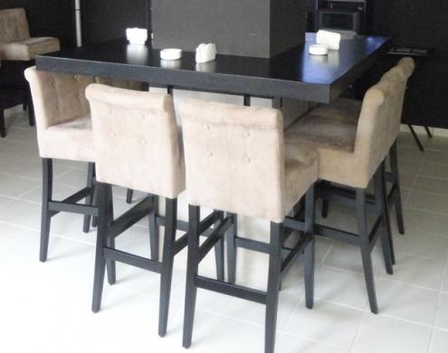 bar chair velvet beige - Garden Furniture Lebanon