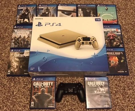 Games in Ebl Saki - Playstation 4 Gold 1TB console Brand New Sealed W/ 11 Games And Extra Controller