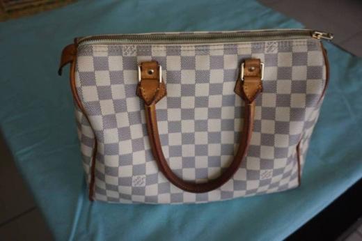 Women's Bags & Handbags in Barbour - Authentic Louis Vuitton Damier Azur Speedy 30 tote bag handbag