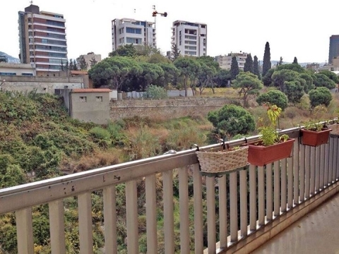Apartment in Mount Lebanon - 3brd apartment for rent in Horsh Tabet facing an open green space