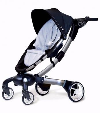 Baby & Kids Stuff in Charbin -  4Moms Origami Stroller, Black/ Silver