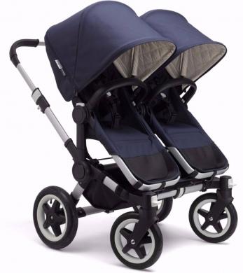 Baby & Kids Stuff in Al Ali -  Bugabooo donkey classic plus twins strollers - Navy