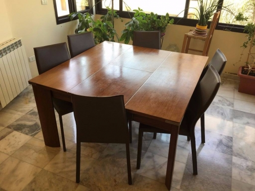 Dining Tables & Chairs in Fanar - Dining table with 6 chairs  Dresser