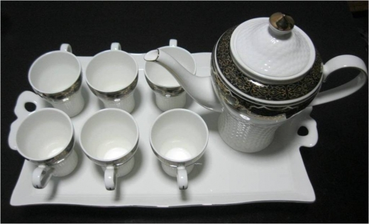 Teapots & Cafetiers in Beirut City - Black Tea Set with Tray