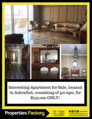 Apartment in Achrafieh - Apt Sale Ashrafieh 410sqm