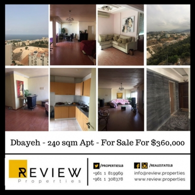 Apartment in Dbayeh - Ref. 4160: Apt - Sale - Dbayeh