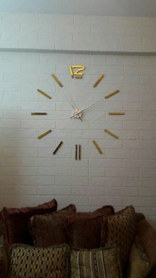 Other Home Appliances in Malaab - 3D Large Diy Clock (New)