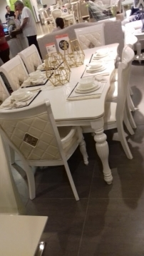 Hobbies, Interests & Collectibles in Mount Lebanon - dining room in box.pearl white.8chairs.massif