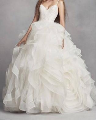 Wedding Dresses in Adonis - Vera Wang Elegant Wedding Dress with Veil