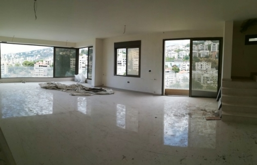 Apartment in Bsalim - Duplex for sale in Bsalim with Sea view