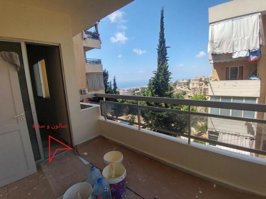 Apartment in Bchamoun - شقة لقطة - بشامون مدارس ١٢٠ متر - مطلة على البحر