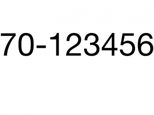 Special Numbers in Sodeco - Platinum Number 70-123456