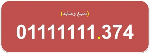 Special Numbers in Al Dahye - ارقام اتصالات مصرية سباعية نادرة (سبع وحايد) للبيع 01111111