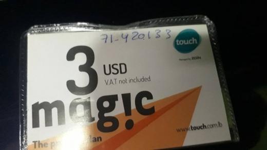 SIM Cards in Furn Al Chebak -  خط تاتش تشريج 40 يوم