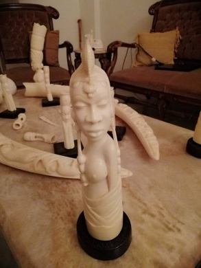 Antiques in Hamra - African ivory Tusk