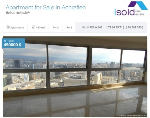 Apartments in Achrafieh - Apartment for sale in Achrafieh