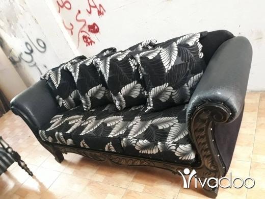Sofa Beds & Futons in Bir Hassan - صالون مستعمل نضيف كتير ٦قطع سعر ٥٥٠الف