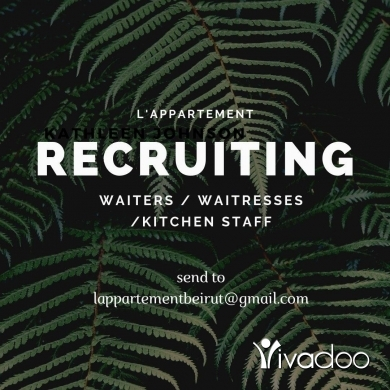 Kitchen Staff in Beirut City - L'appartement Beirut recruiting