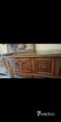 Dressers & Chests in Tripoli - غرفة سفرة انتيك سنديان مسيف