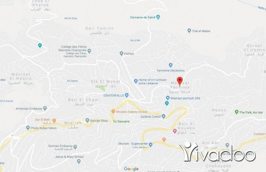 Land in Mazraat Yachouh - A 474 m2 ground floor land for sale in Mazraat yachouh