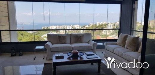 Apartments in Mtaileb - A furnished 260 m2 apartment having an open sea view for rent in Mtayleb