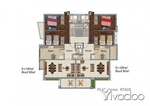 Apartments in Mastita - Apartment for sale in Mastita 106 sqm under construction