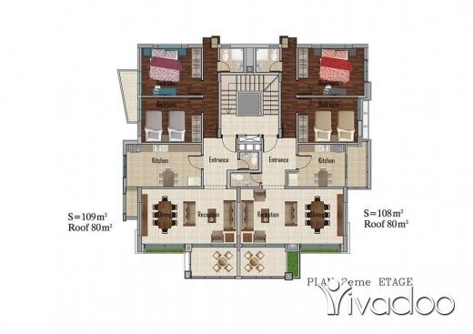 Apartments in Mastita - Apartment for sale in Mastita 106 sqm under construction