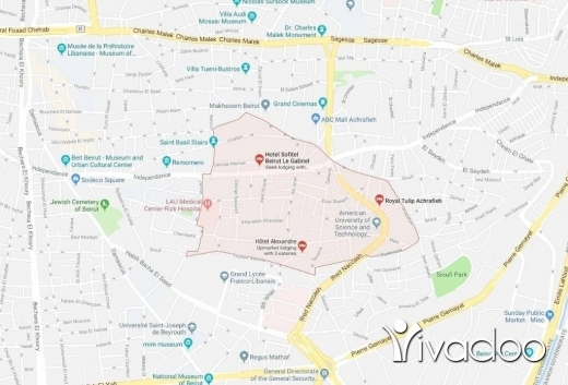 Land in Achrafieh - 410 m2 land for sale in Achrafieh.