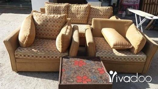 Chairs, Stools & Other Seating in Tripoli - للبيع صالون بحالة جيدة 3قطع