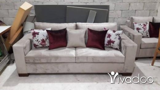 Chairs, Stools & Other Seating in Zahrieh - غرفة جلوس جديدة مؤلفة من كبيرة ووسط وتنان صغار