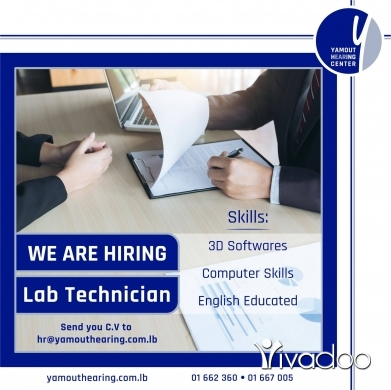 Healthcare in Beirut City - we are hiring Lab Technician
