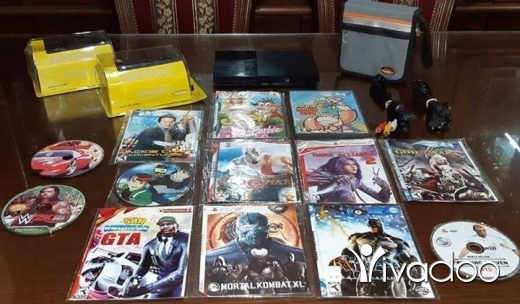 Games in Tripoli - Playstation 2 slim perfect condition with 2 joysticks originals