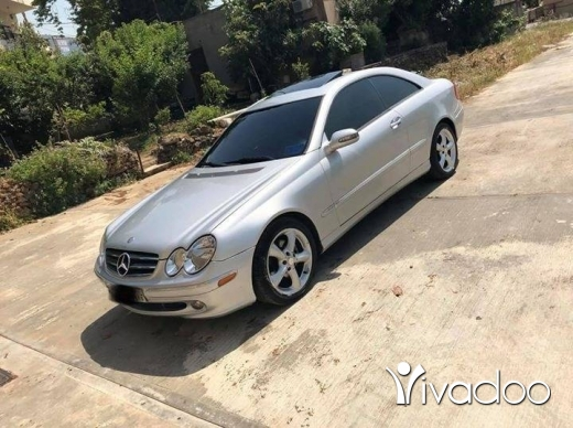 Mercedes-Benz in Beirut City - Clk 320 silver on black 2003 super clean