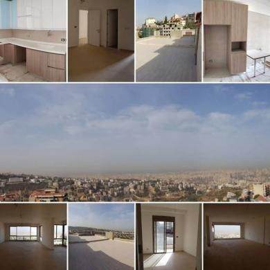 Apartments in Mansourieh - شقة 180م٢ قيد الانشاء سوبر دولوكس مطل على جبل والبحر