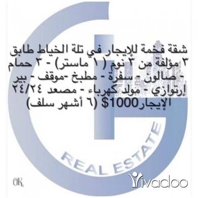 Apartments in Beirut City - شقه فخمه للايجار في تلة الخياط